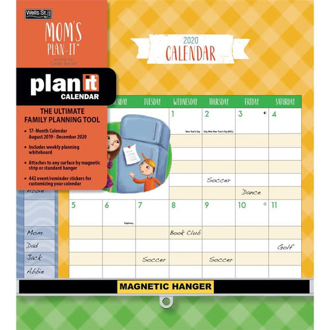 Moms Plan It Plus 2020 Wall Calendar Front Cover