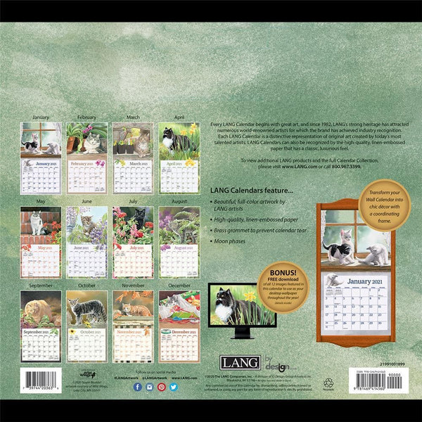Cats in the Country 2021 Wall Calendar by Lang Companies Inc.