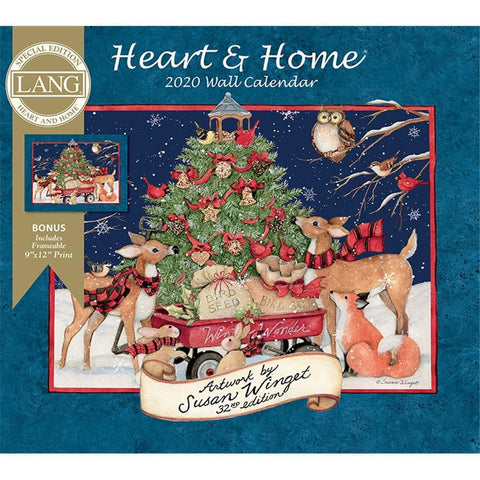 Heart and Home 2020 Special Edition Wall Calendar Front Cover