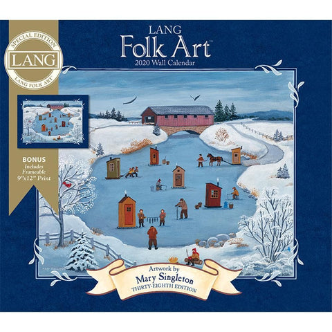 Lang Folk Art 2020 Special Edition Wall Calendar Front Cover