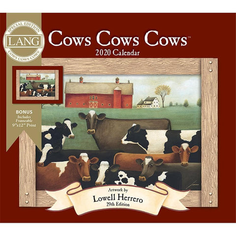 Cows Cows Cows 2020 Special Edition Wall Calendar Front Cover