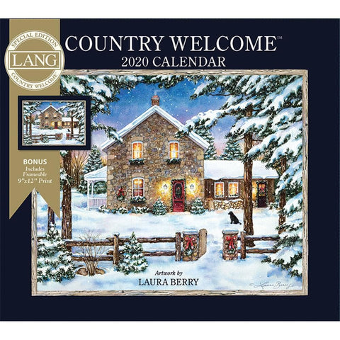 Country Welcome 2020 Special Edition Wall Calendar Front Cover