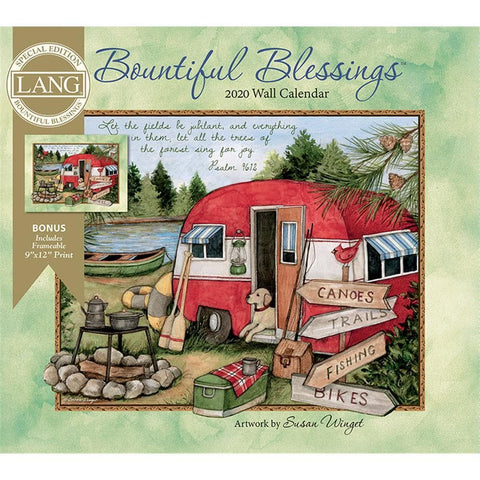 Bountiful Blessings 2020 Special Edition Wall Calendar Front Cover