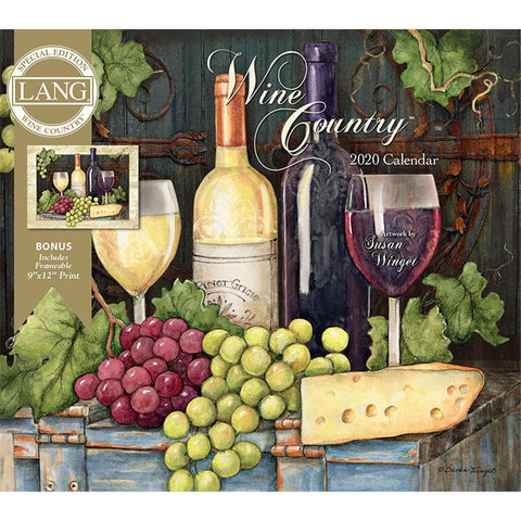 Wine Country 2020 Special Edition Wall Calendar Front Cover