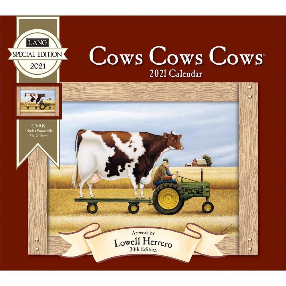 Cows Cows Cows 2021 Special Edition Wall Calendar by Lang Companies Inc.