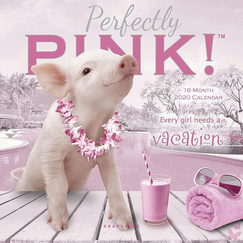 Pigs Perfectly Pink 2020 Mini Calendar Front Image
