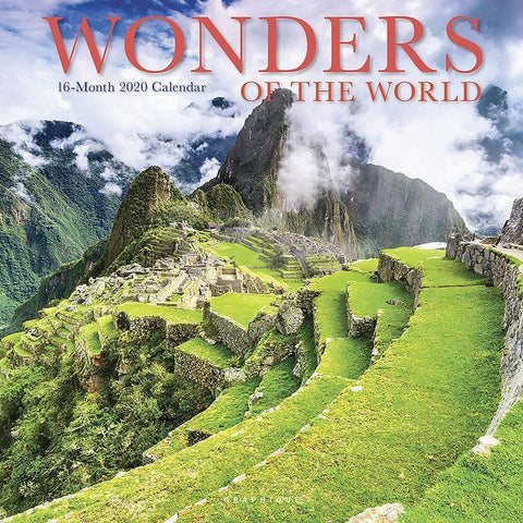Wonders of the World 2020 Wall Calendar Front Image