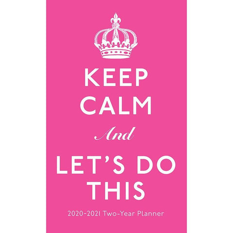 Keep Calm 2020 2 yr Pocket Planner Calendar Front Image
