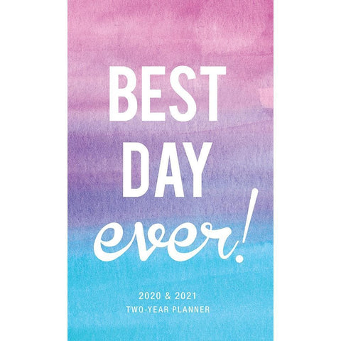 Best Day Ever 2020 2 yr Pocket Planner Calendar Front Image