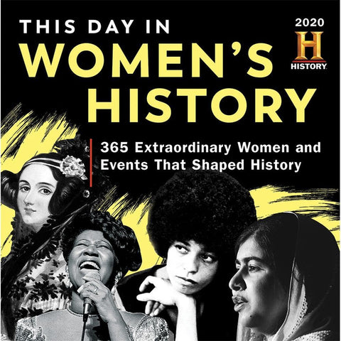 History Channel This Day in Womens History 2020 Box Calendar Front Cover
