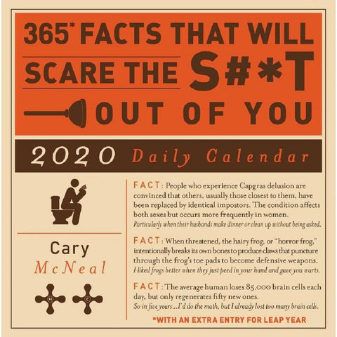 Facts Scare Shit Out of You 2020 Box Calendar