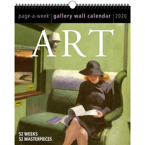 Art Page A Week Gallery 2020 Wall Calendar Front Cover