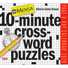 Mensa 10 Minute Crossword 2020 Box Calendar Front Cover