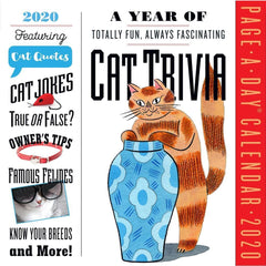 Cat Trivia 2020 Box Calendar Front Cover