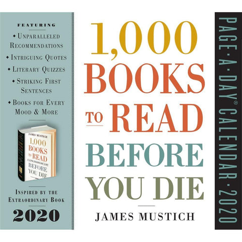 1000 Books to Read 2020 Box Calendar Front Cover