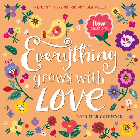 Everything Grows with Love 2020 Mini Calendar Front Cover