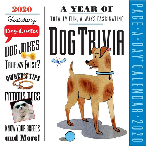 Dog Trivia 2020 Box Calendar Front Cover