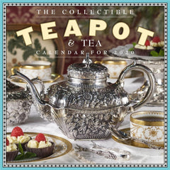 Collectible Teapot and Tea 2020 Wall Calendar Front Cover