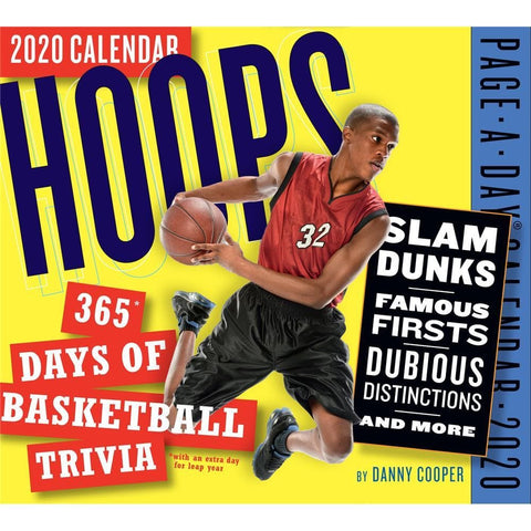Hoops 365 Days of Basketball Trivia 2020 Box Calendar Front Cover