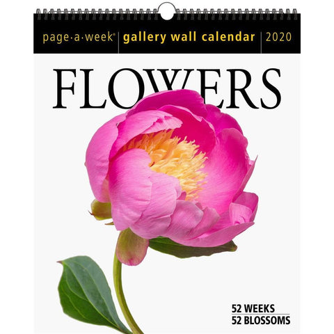 Flowers Page A Week Gallery 2020 Wall Calendar Front Cover
