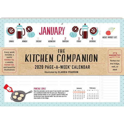Kitchen Companion 2020 Wall Calendar Front Cover