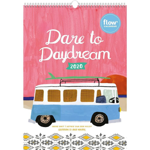 Dare to Day Dream Flow 2020 Wall Calendar Front Cover