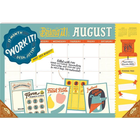 Work It 17 Mth 2020 Desk Pad CalendarFront Cover