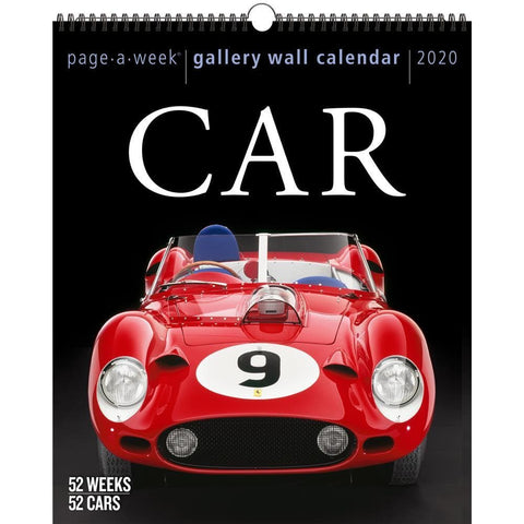 Car Gallery 2020 Wall Calendar Front Cover