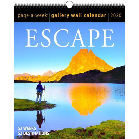 Escape Gallery 2020 Wall Calendar Front Cover