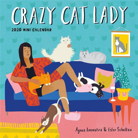 Crazy Cat Lady Mini 2020 Mini Calendar Front Cover