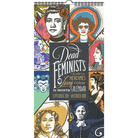 Dead Feminists 2020 Slim Wall Calendar Front Cover