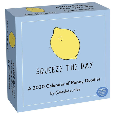 Calendar of Punny Doodles 2020 Box Calendar Front Cover