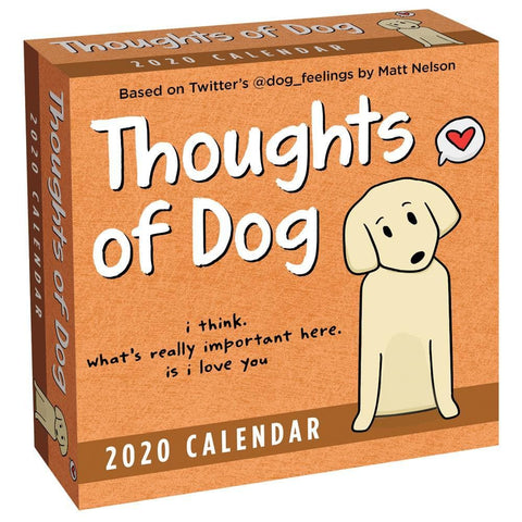 Thoughts of Dog 2020 Box Calendar Front Cover