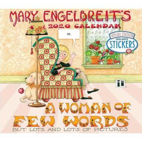 Mary Engelbreit 2020 Special Edition Deluxe Wall Calendar Front Cover
