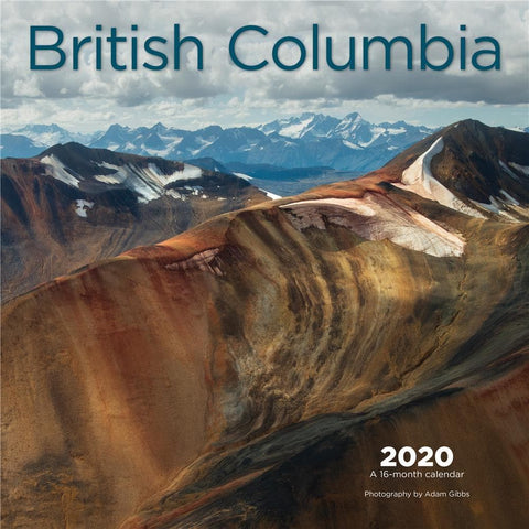 British Columbia 2020 Wall Calendar Front Cover