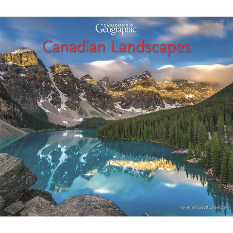 Can Geo Canada Landscapes Deluxe 2020 Wall Calendar Front Cover