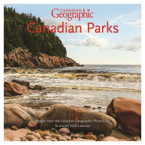 Can Geo Canadian Parks 2020 Mini Calendar Front Cover
