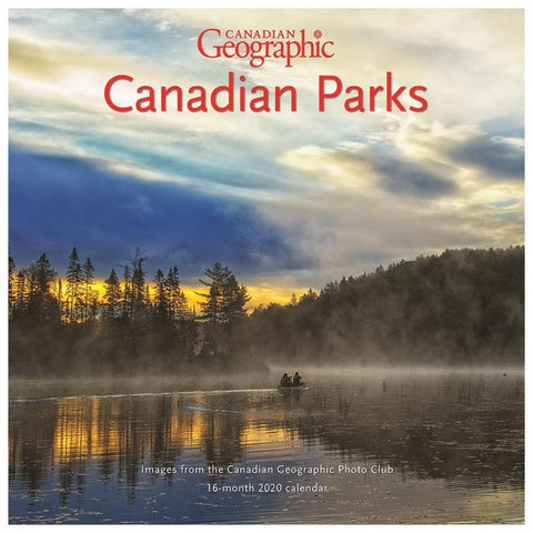 Can Geo Canadian Parks 2020 Wall Calendar Front Cover