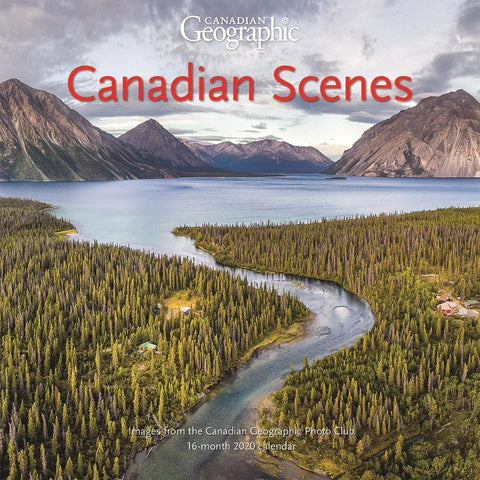 Can Geo Canadian Scenes 2020 Medium Mini Calendar Front Cover