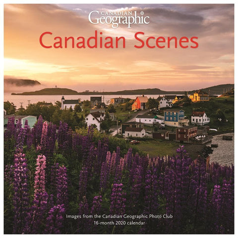 Can Geo Canadian Scenes 2020 Wall Calendar Front Cover