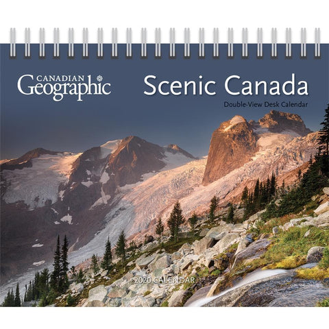 Canadian Geo Scenic 2020 Easel Calendar Front Cover
