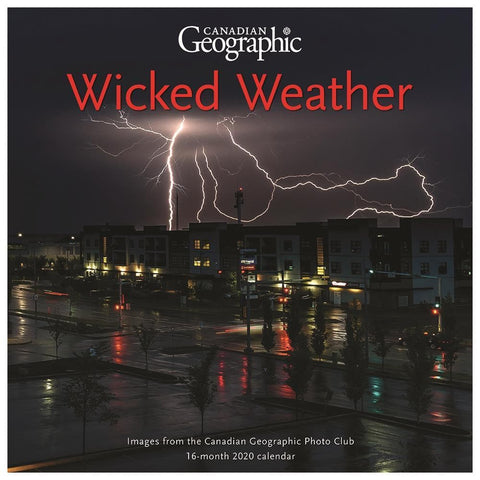 Wild Weather Can Geo 2020 Wall Calendar Front Cover