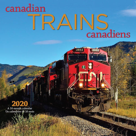 Trains Canadian Bilingual 2020 Wall Calendar Front Cover