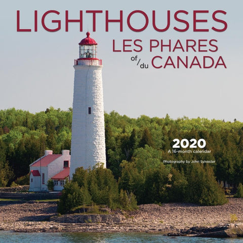 Lighthouses of Canada Bilingual 2020 Wall Calendar Front Cover