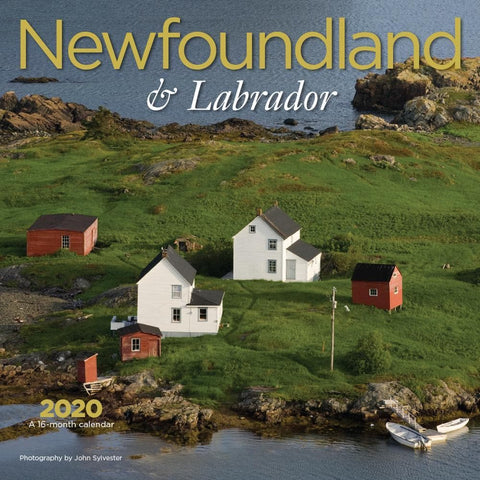 Newfoundland and Labrador 2020 Wall Calendar Front Cover