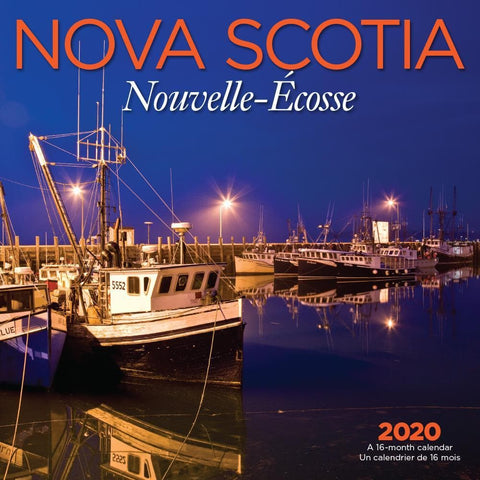 Nova Scotia Bilingual 2020 Wall Calendar Front Cover