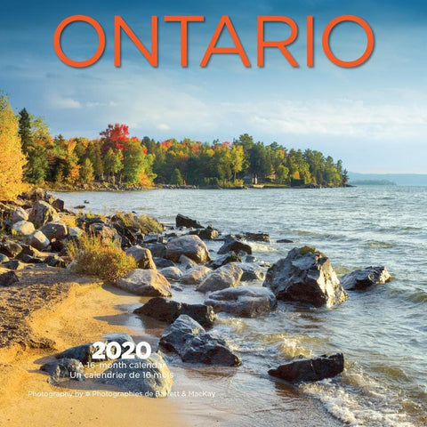 Ontario Bilingual 2020 Mini Calendar Front Cover