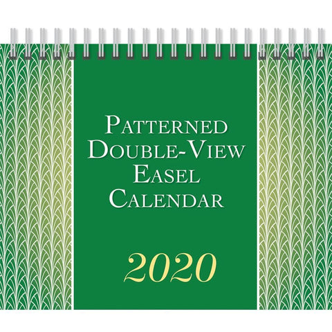 Patterned 2020 Easel Calendar Front Cover