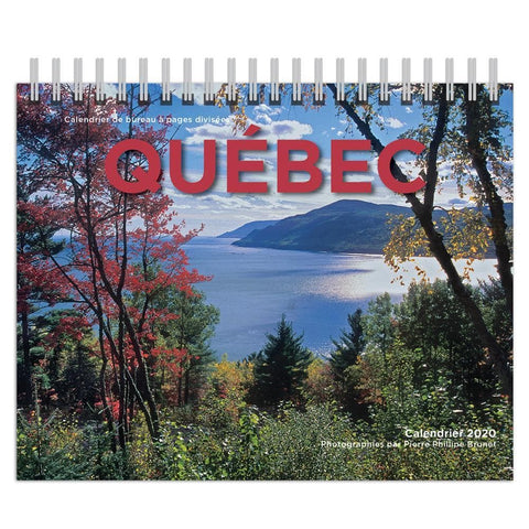 Quebec Double 2020 French Easel Calendar Front Cover