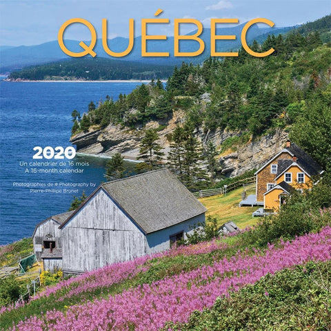Quebec Bilingual 2020 Wall Calendar Front Cover